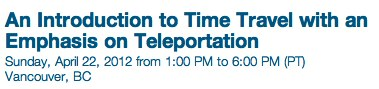 An Introduction to Time Travel with an Emphasis on Teleporta... - Eventbrite-4